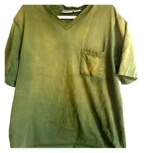 King size green cotton tee 2x
